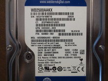 Western Digital WD2500AAKX-603CA0 DCM:DANNHT2MHN 250gb Sata (Donor for Parts)