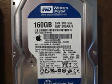 Western Digital WD1600AAJS-40H3A2 DCM:DHRNHT2AAN Apple#655-1470D 160gb Sata