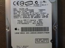 Hitachi HTS542512K9SA00 PN:0A54913 MLC:DA2153 Apple#655-1405A 120gb Sata