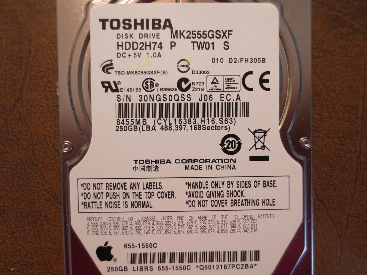 Toshiba MK2555GSXF Hard Drive MK2555GSXF