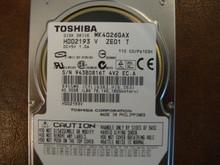 Toshiba MK4026GAX HDD2193 V ZE01 T 110 C0/PA103H 40gb IDE  (Donor for Parts) 943B0816T