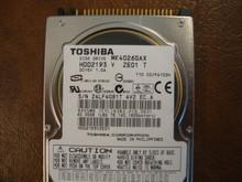 Toshiba MK4026GAX HDD2193 V ZE01 T 110 C0/PA103H 40gb IDE  (Donor for Parts) Z4LF4081T