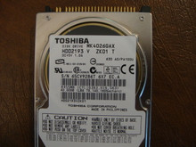 Toshiba MK4026GAX HDD2193 V ZK01 T 630 A0/PA100U 40gb IDE  (Donor for Parts) 65CV9286T