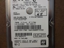 Hitachi HTS541075A9E682 PN:0J31062 MLC:DA5113 Apple#655-1750C 750gb Sata