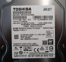 """Toshiba DT01ACA050 (HDKPC01D0A05 S) AAD AA21 500gb FW:810 3.5"""" Sata hard drive"""