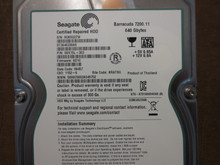 Seagate ST3640330AS 9BX15L-303 FW:SD1C KRATSG 640gb Sata (Donor for Parts)