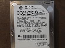 Hitachi HTS545025B9SA02 PN:0A77542 MLC:DA3190 Apple#655-1538C 250gb Sata (Donor for Parts)