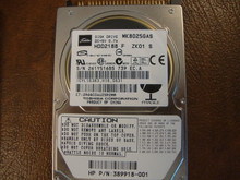 Toshiba MK8025GAS HDD2188 F ZK01 S 610 A0/KA024A HP# 389918-001 80gb IDE (Donor for Parts) 261Y5168S