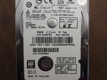 Hitachi HTS545050A7E362 PN:0J38755 MLC:DA5754 Apple#655-1730D 500gb Sata (Donor for Parts)