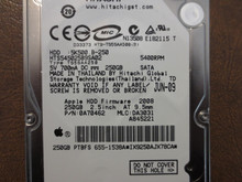 Hitachi HTS545025B9SA02 PN:0A70462 MLC:DA3031 Apple#655-1538A 250gb Sata (Donor for Parts)
