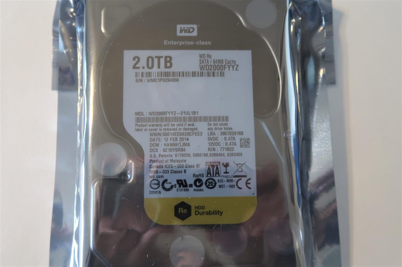 """WD RE WD2000FYYZ 2TB 7200RPM 64MB Cache SATA 6.0Gb//s 3.5/"""" Enterprise Hard Drive"""