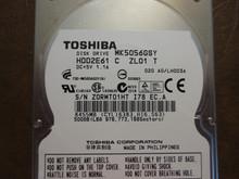 Toshiba MK5056GSY HDD2E61 C ZL01 T 020 A0/LH003A 500gb Sata