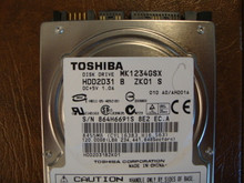 Toshiba MK1234GSX HDD2D31 B ZK01 S 010 A0/AH001A 120gb  Sata (Donor for Parts) 864H6691S