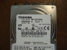 Toshiba MK1237GSX HDD2D62 S ZL01 T 020 A0/DL130G 120gb  Sata (Donor for Parts)