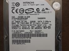 Hitachi HTS545032B9A300 PN:0A74093 MLC:DA2997 320gb Sata
