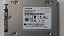 """Toshiba THNSNC256GBSJ CJAA0201 Apple# 655-1653B 2.5"""" 256gb Sata SSD"""