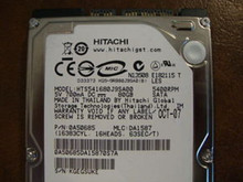 Hitachi HTS541680J9SA00 PN:0A50685 MLC DA1587 80gb Sata (Donor for Parts)