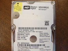 WD WD600BEAS-00KZT0 DCM:HOTJBB 60gb Sata   (Donor for Parts)