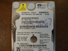 WD WD800BEVS-22RST0 DCM:HHCTJBBB 80gb Sata (Donor for Parts)