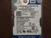 WD WD800BEVT-75ZCT2 DCM:HHCV2ABB 80gb Sata (Donor for Parts)