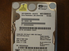 WD WD1200BEVS-22UST0 DCM:FACT2ABB 120gb Sata (Donor for Parts)