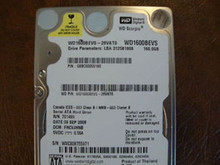 WD WD1600BEVS-26VAT0 DCM:FHCVJHNB 160gb Sata (Donor for Parts)