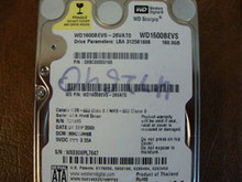 WD WD1600BEVS-26VAT0 DCM:HHCVJHNB 160gb Sata (Donor for Parts) (PL7847)