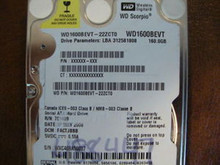 WD WD1600BEVT-22ZCT0 DCM:FACTJBBB 160gb Sata (Donor for Parts)