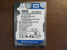 WD WD1600BEVT-22ZCT0 DCM:FANV2BB 160gb Sata (Donor for Parts)