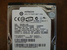 Hitachi HTS542516K9SA00 PN:0A54974 MLC:DA2031 160gb Sata  (Donor for Parts)