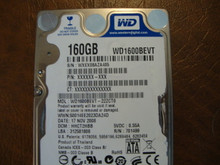 WD WD1600BEVT-22ZCT0 DCM:HHCT2HBB 160gb Sata (Donor for Parts)