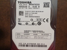 Toshiba MK6475GSX HDD2L02 D UL02 B FW:GT002D 640gb Sata (Donor for Parts) 81D7BASQB