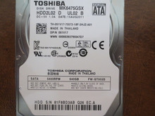 Toshiba MK6475GSX HDD2L02 D UL02 B FW:GT002D 640gb Sata (Donor for Parts) 81F8BD3AB