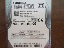 Toshiba MK6475GSX HDD2L02 D UL02 B FW:GT002D 640gb Sata (Donor for Parts) 81KBBE56B