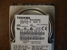 Toshiba MK2035GSS HDD2A30 B ZK01 S 020 A0/DK020M 200gb Sata (Donor for Parts) 47JWF22VS