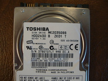 Toshiba MK2035GSS HDD2A30 B ZK01 T 020 A0/DK020M 200gb Sata (Donor for Parts) 37BGT07LT