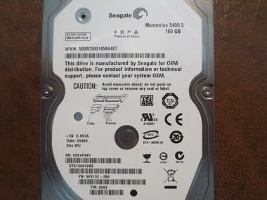 SEAGATE ST9160314AS 9HH13C-500 FW:0001SDM1 160GB SATA HDD