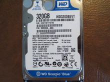 WD WD3200BEVT-24A23T0 DCM:HHMTJHB 320gb Sata (Donor for Parts)