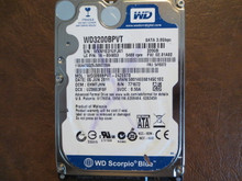 WD WD3200BPVT-24ZEST0 DCM:EHMTJHN FW:02.01A02 320gb Sata (Donor for Parts)