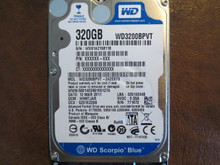 WD WD3200BPVT-24ZEST0 DCM:HHMTJAB 320gb Sata (Donor for Parts) WX61A2158118