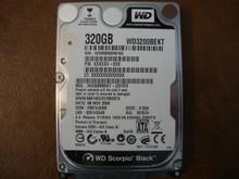 WESTERN DIGITAL WD3200BEKT-22F3T0 DCM:HBCVJABB SATA 320GB