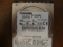 "Toshiba MK1032GSX HDD2D30 S ZK01 S 010 D0/AS021G 2.5"" Sata 100gb"