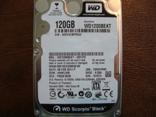 Western Digital WD1200BEKT-00F3T0 DCM:HHNTJHB 120gb Sata (Donor for Parts)