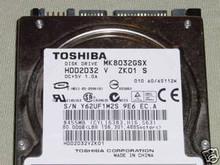 TOSHIBA MK8032GSX, HDD2D32 V ZK01 S, 80GB, SATA 360193661079