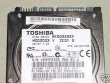 TOSHIBA MK8032GSX, HDD2D32 V ZK01 S, 80GB, SATA 360202347444