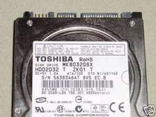 TOSHIBA MK8032GSX, HDD2D32 T ZK01 T, 80GB, SATA 360202342432