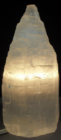 Selenite Tower Lamp 10""