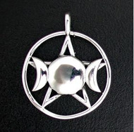 Sterling Silver Triple Goddess-XL Pendant
