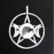 Sterling Silver Triple Goddess-XL Pendant
