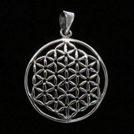 Sterling Silver Flower of Life-Open Pendant